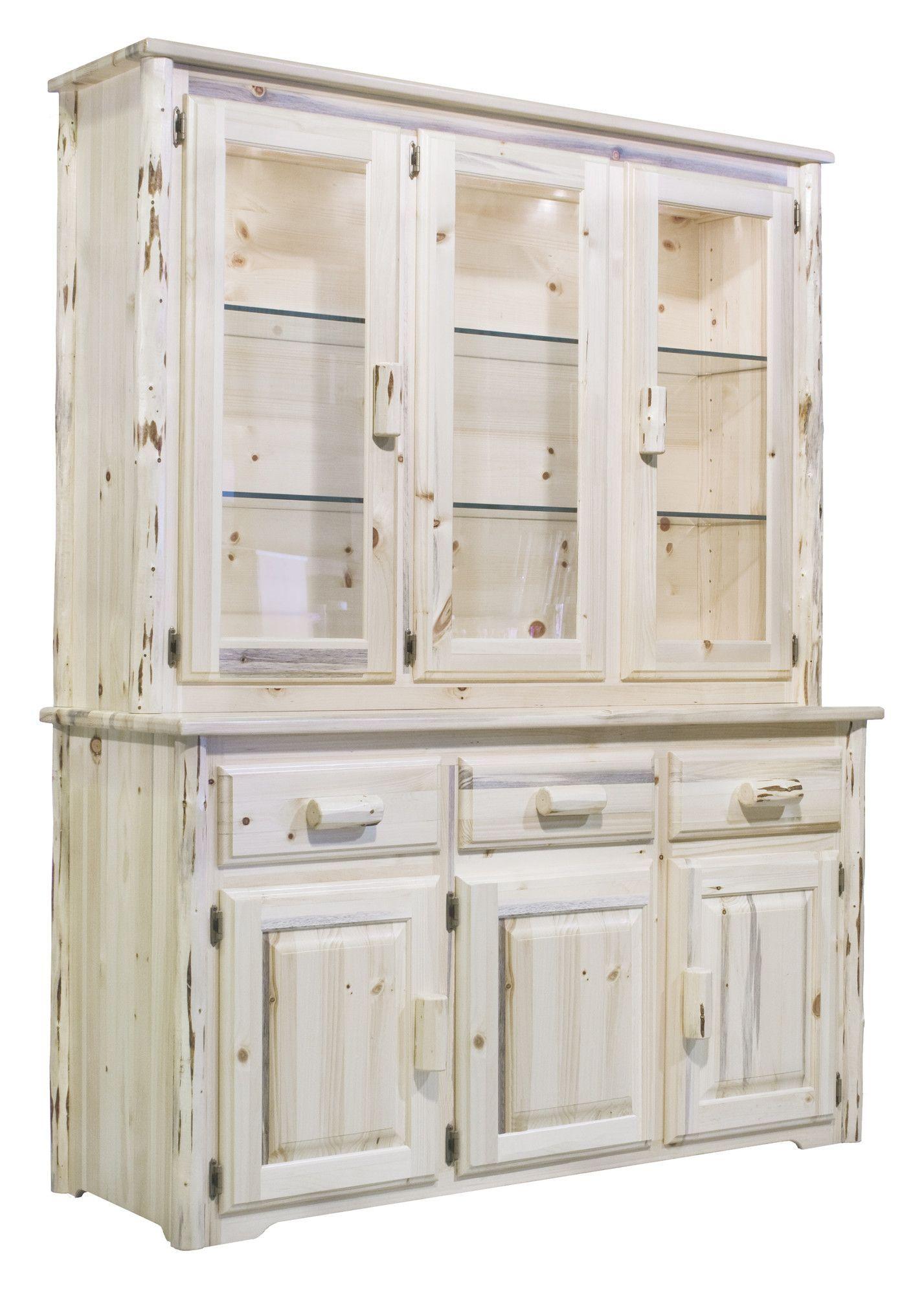 Montana China Cabinet Top  Products  Pinterest  China Cabinets Mesmerizing White Kitchen Hutch Design Ideas