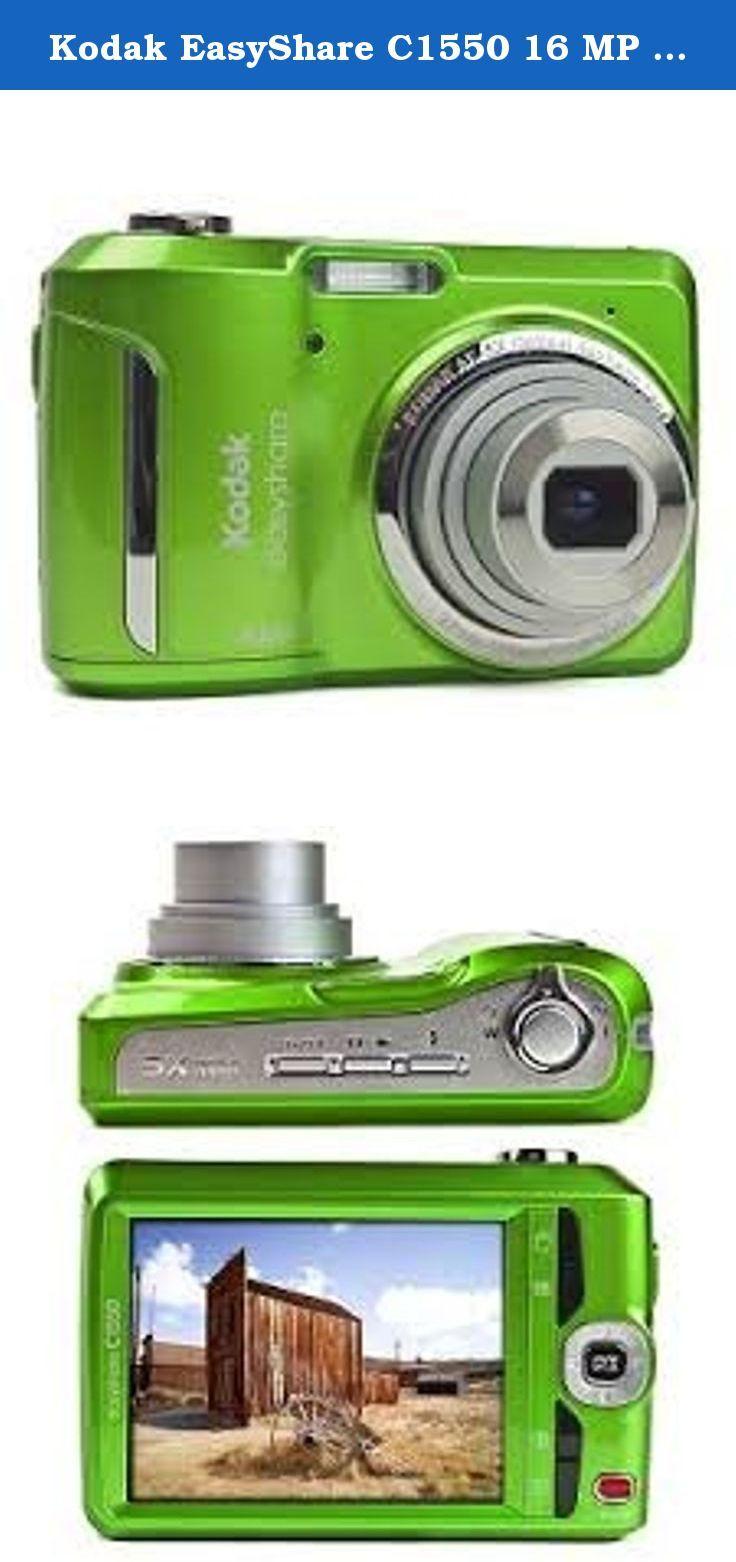 Kodak Easyshare C1550 16 Mp Digital Camera With 5x Optical Zoom Green Kodak Easyshare C1550 16 Mp Digital Camera Digital Camera Kodak Easyshare Camera Photo