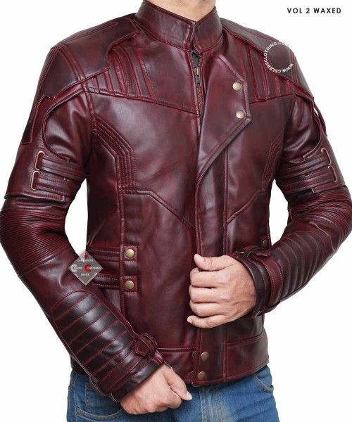 Guardians of The Galaxy Vol 2 Star Lord Stylish Casuel Wear Real Leather