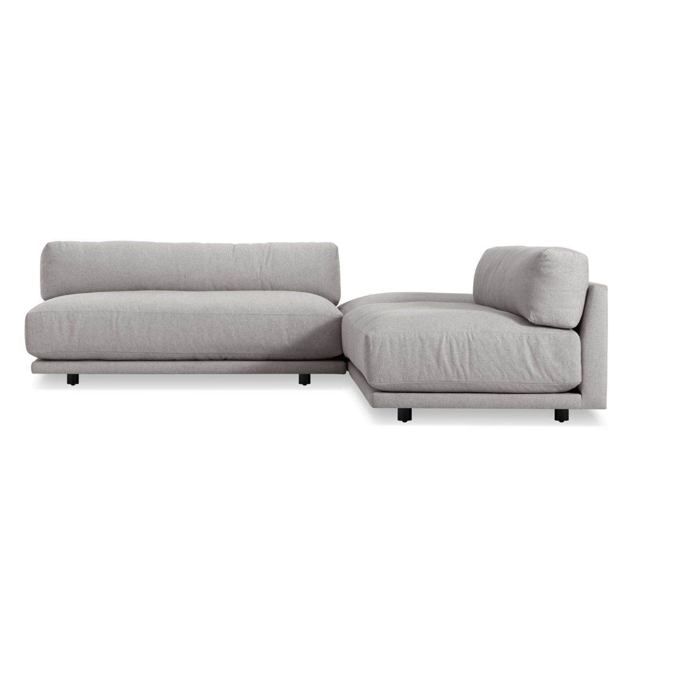 Sunday L Sectional Sofa Small Agnew Grey Apt