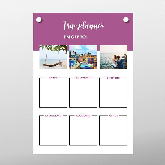 vacation planner travel to do list printable travel checklist
