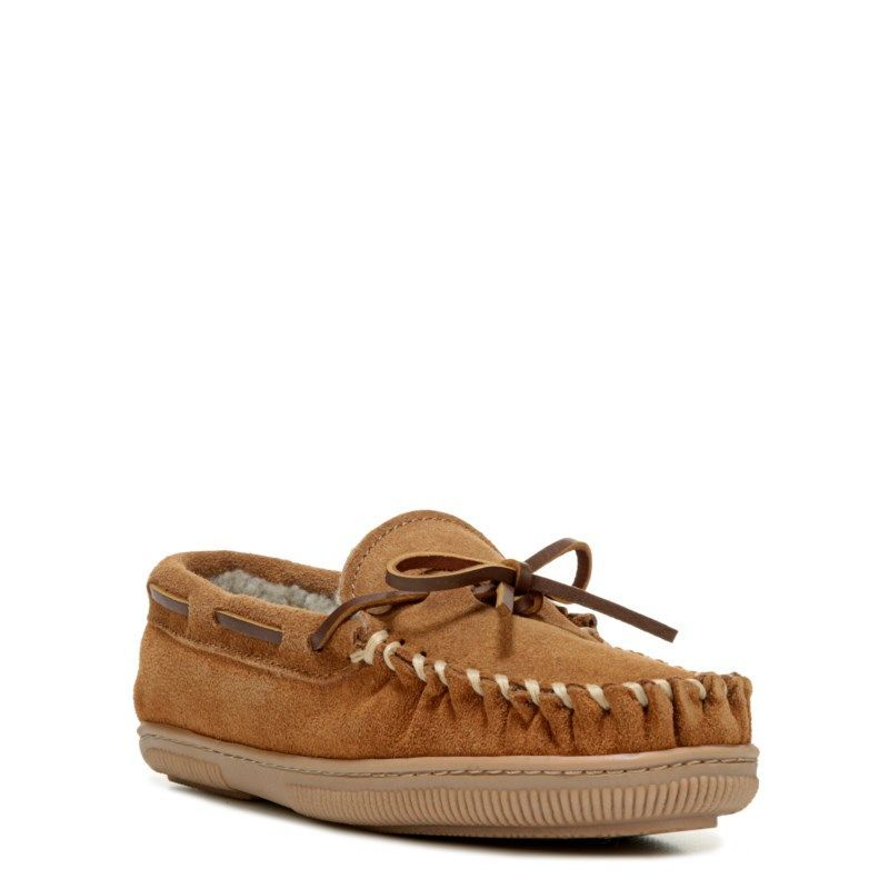 Minnetonka Moccasin Kids' Benson Trapper Moccasin Slipper Pre/Grade School Accessories (Cinnamon) - 1.0 M