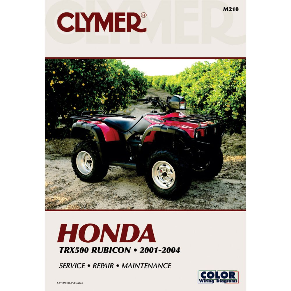 Clymer Honda Trx500 Rubicon 2001 2004 Boat Parts For Less Clymer Honda Rubicon