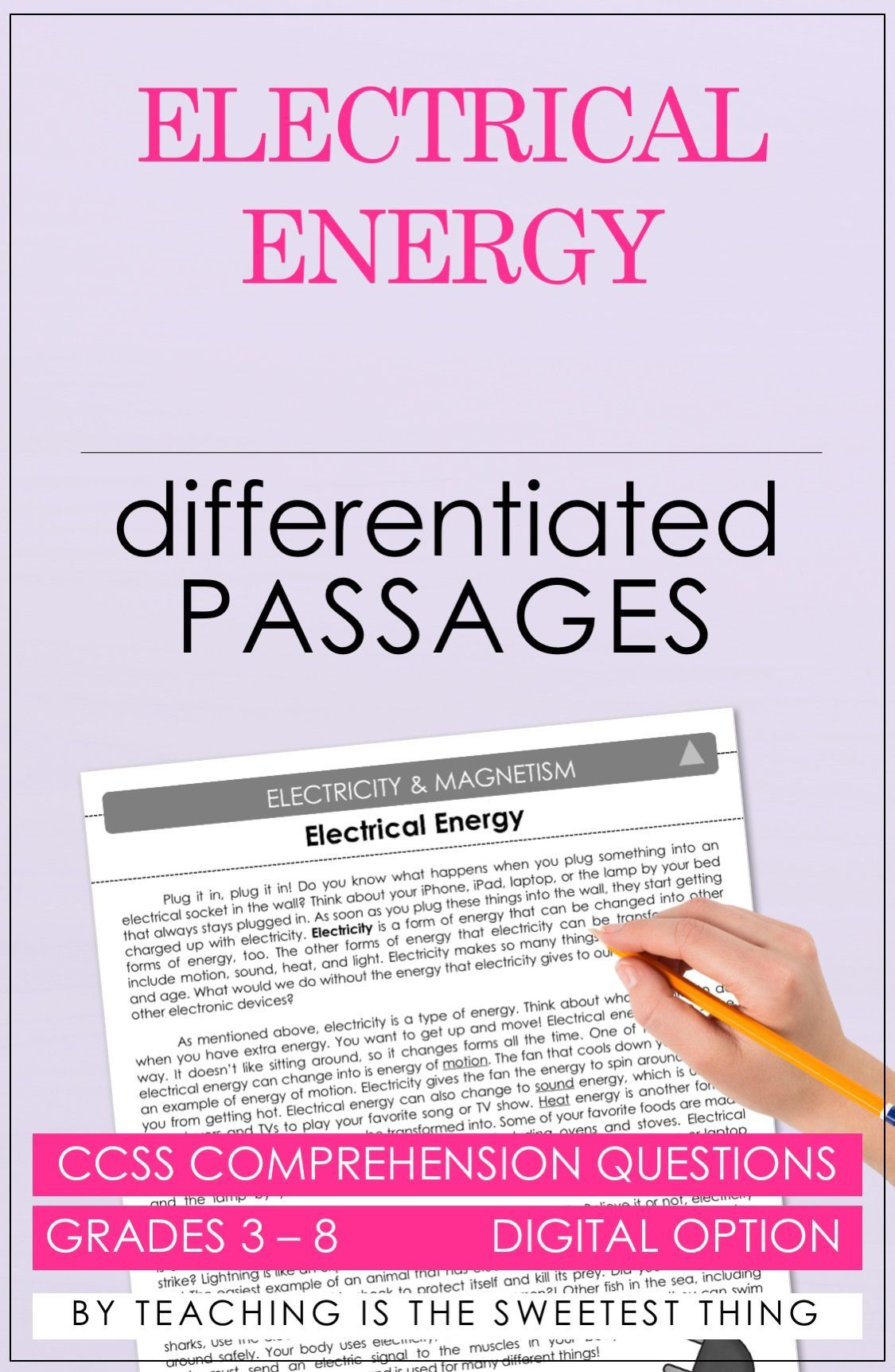 Predownload: Differentiating Instruction Integrating Science Into Reading And Addressing Electricity Magnetism Differentiated Instruction Differentiated Reading Passages [ 1724 x 1125 Pixel ]