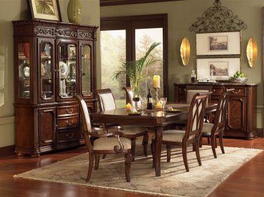 Complete Eetkamer Set.9 Pc Granada Rectangular Leg Dining Table Set Wynwood Furniture