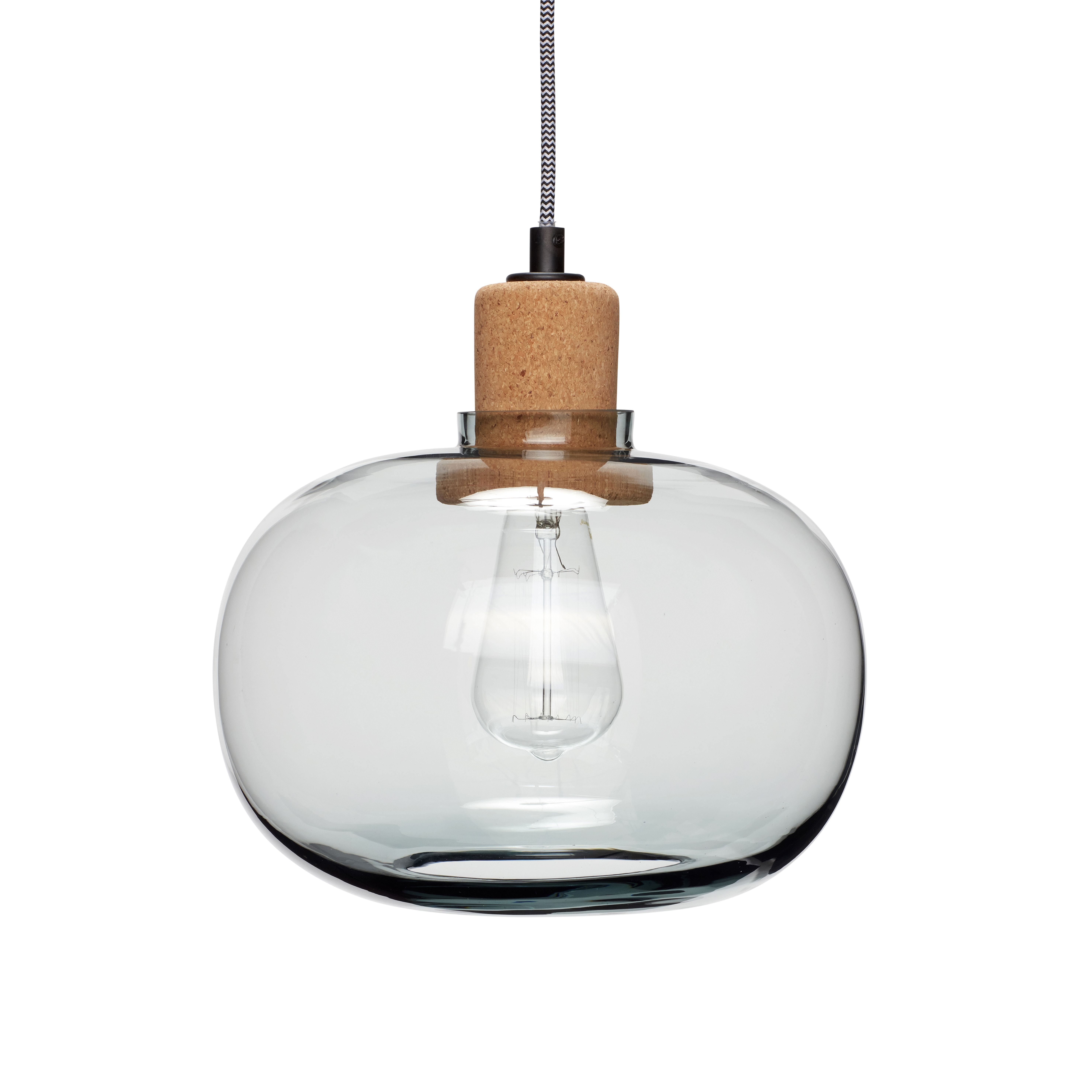 Make A Contemporary Statement In Your Home With These Stunning Glass And Cork Pendant Lights Smokey Blue Grey Solid Stylish Stopper From