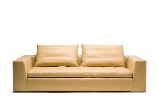 Ledersofa modern beige  Ledersofa Casablanca #Komfort #design #madeinitaly | Italienische ...