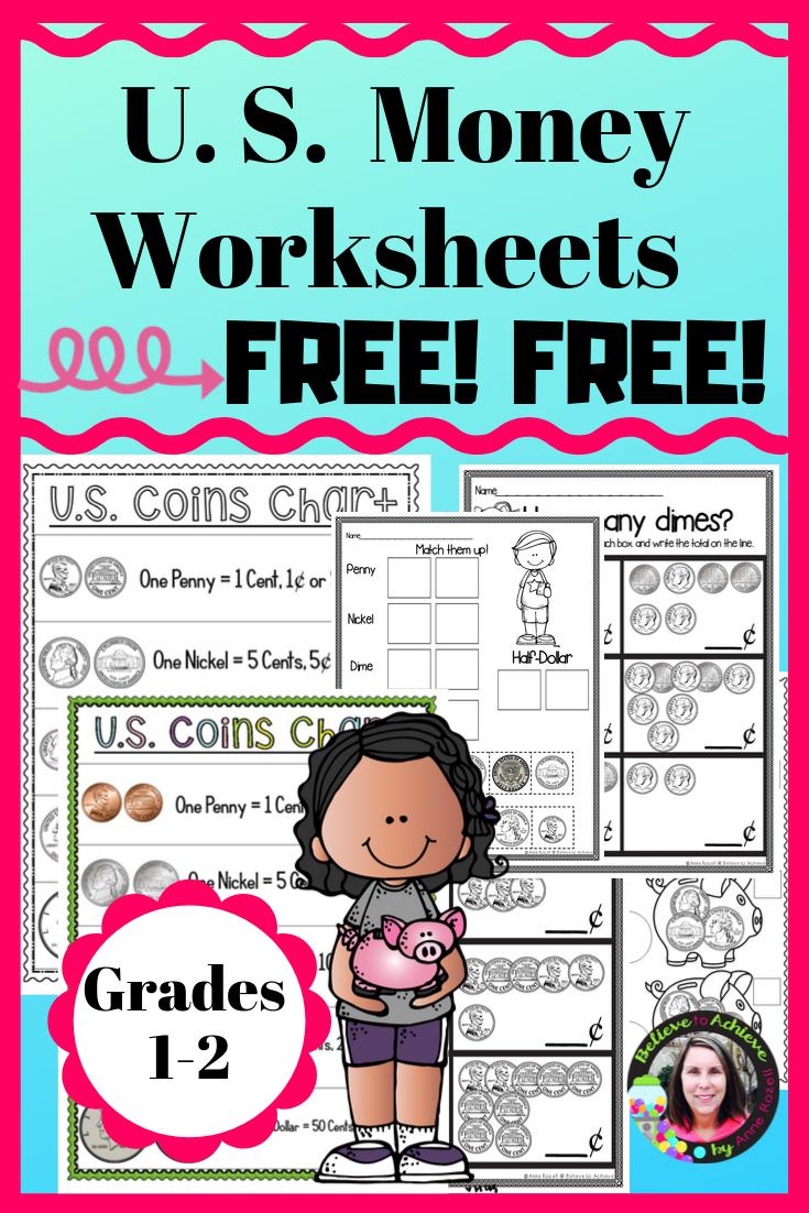 Predownload: Money Worksheets Counting U S Coins Digital And Printable Money Worksheets Free Math Resources Counting Money Worksheets [ 1102 x 735 Pixel ]
