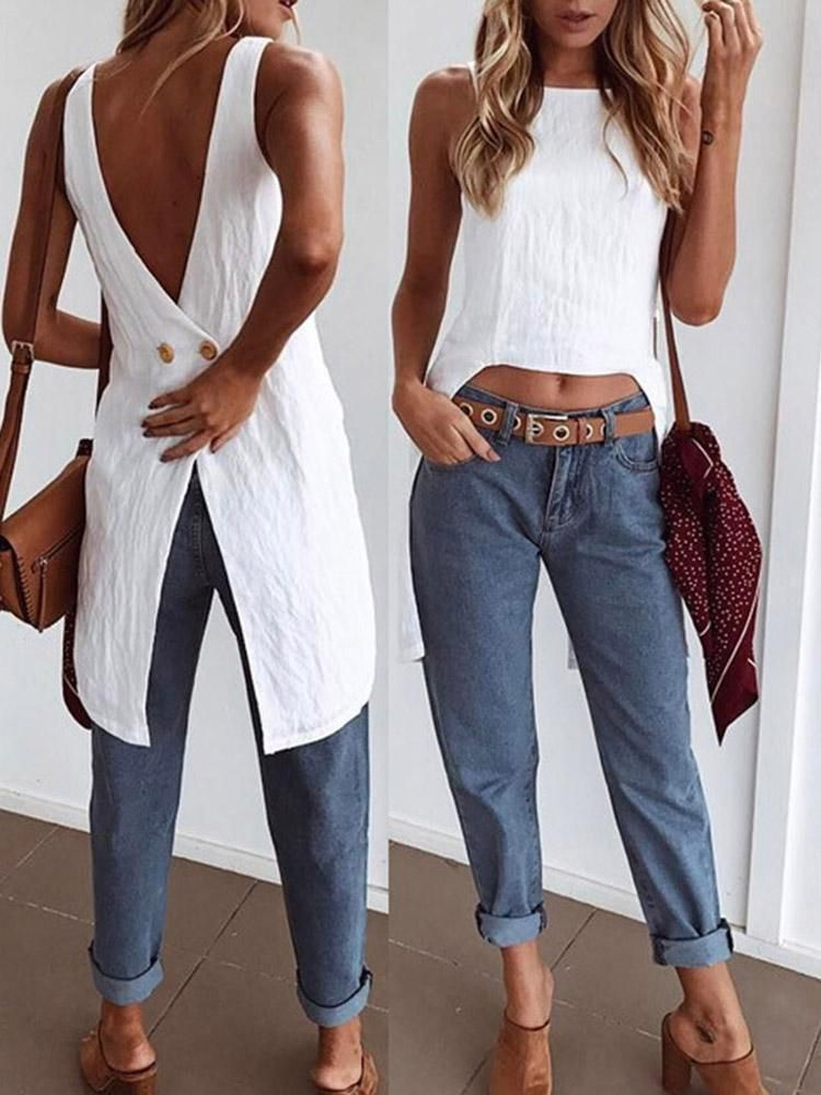 Women/'s Plus Size Cool Zipper Irregular Hem Sleeveless Camisole Mini Dress DA