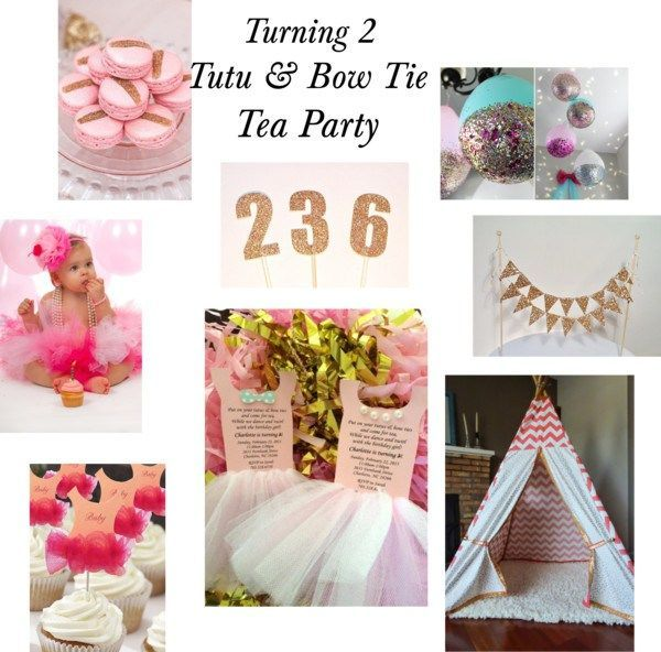 Turning 2 Tutu And Bow Tie Tea Party Inspiration Tay Turns 2