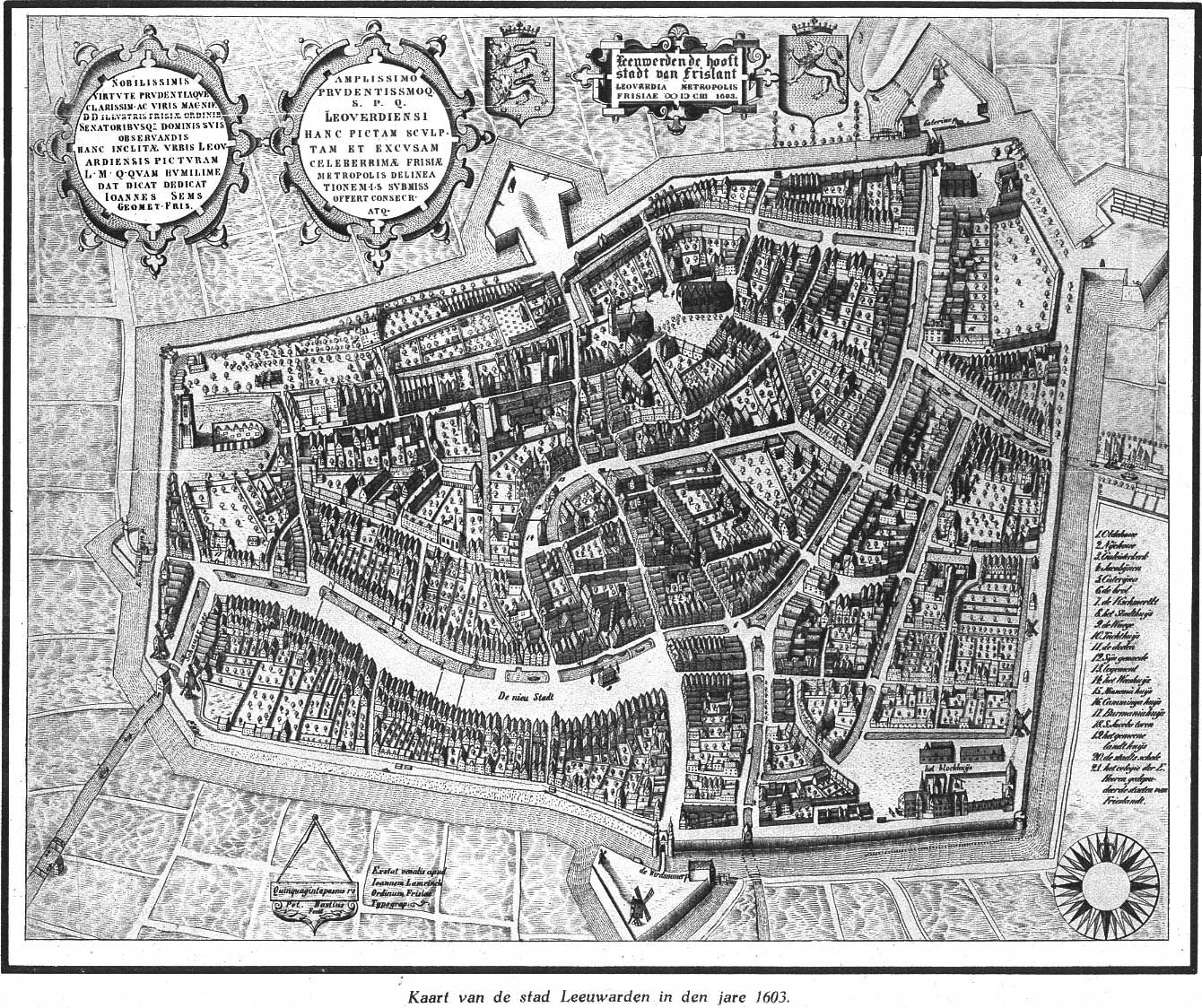 Map of Leeuwarden 1603 Maps Pinterest History