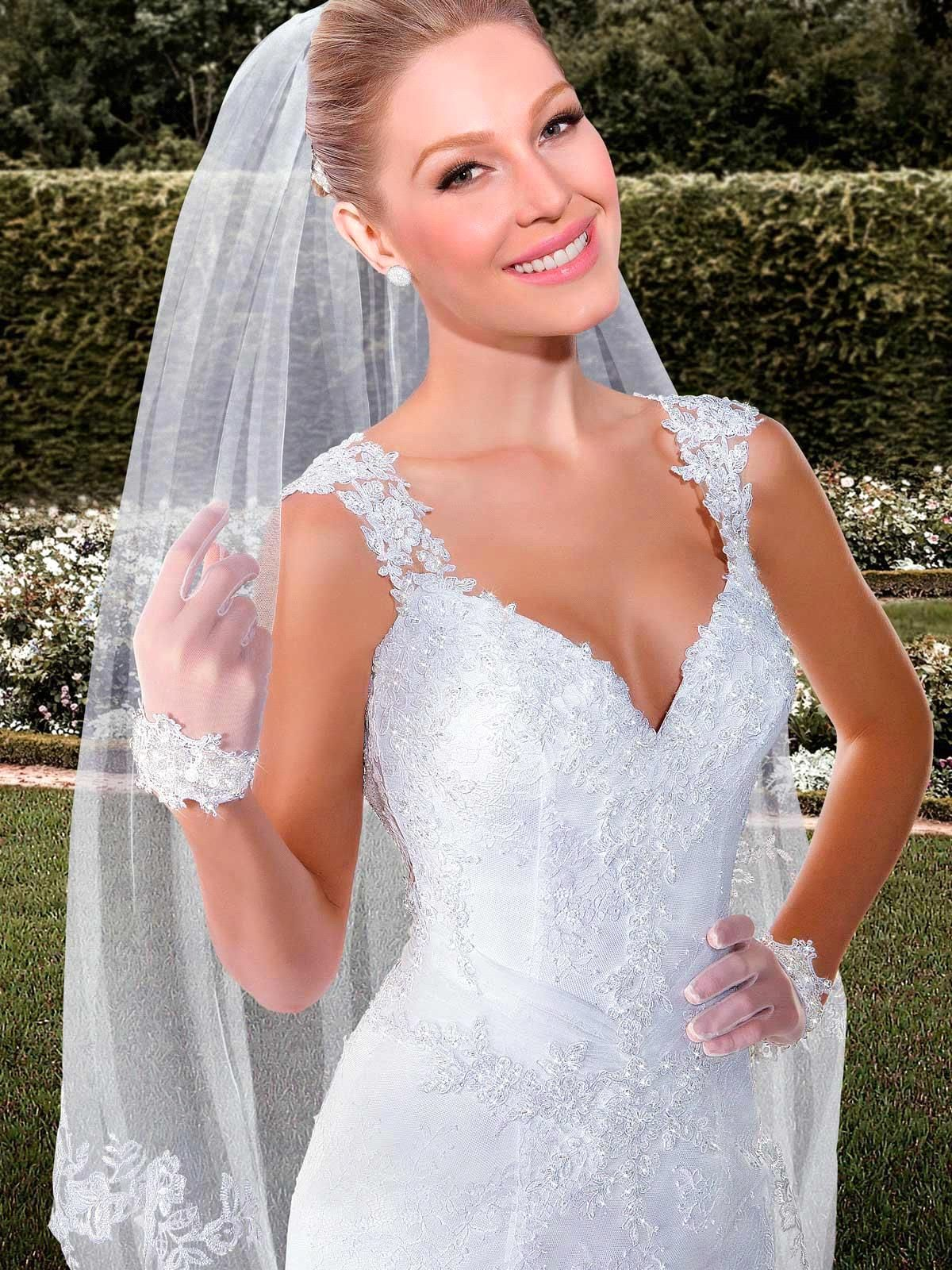 Elegant beaded cap sleeve backless mermaid wedding dress backless