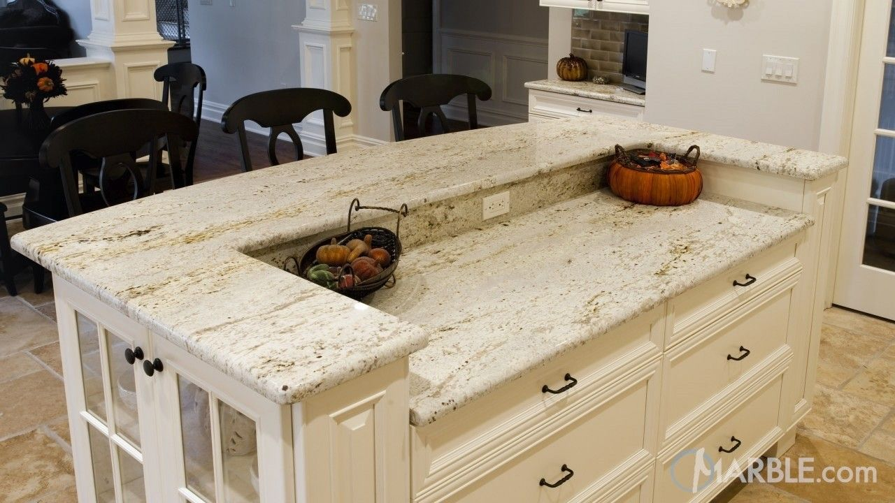 Gold Antique Granite Kitchen Countertops   countertops   Pinterest