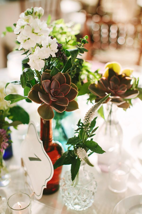 Chic Rustic Country Wedding Vase Centerpieces Centerpieces And