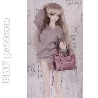 New 1//3 1//4 BOY BJD SD MSD Doll Clothes white v-neck knit T-shirt