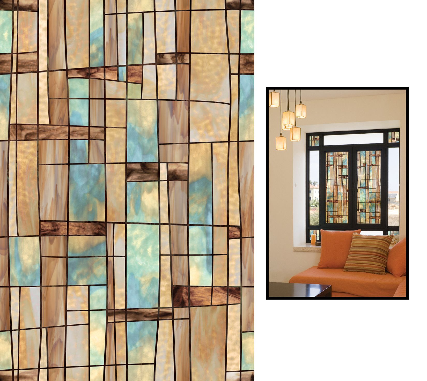 "Decorative Windows For Homes: Artscape 24"" X 36"" Decorative City Lights Window Film"