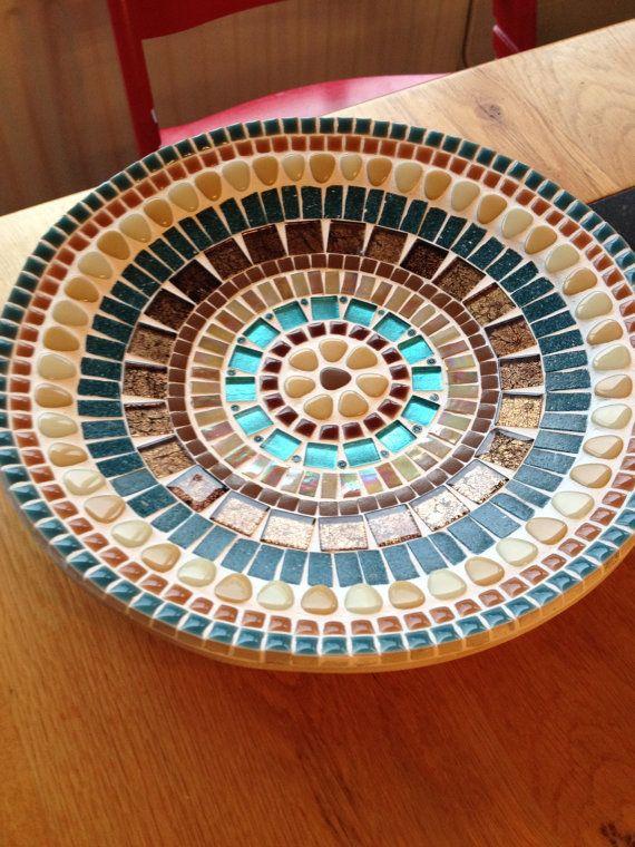 Haus dekoration glas mosaik bambus skalieren blau braun for Dekoration mosaik