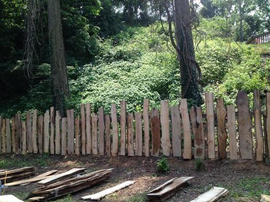 Rustic Garden Fence Pagar Kayu