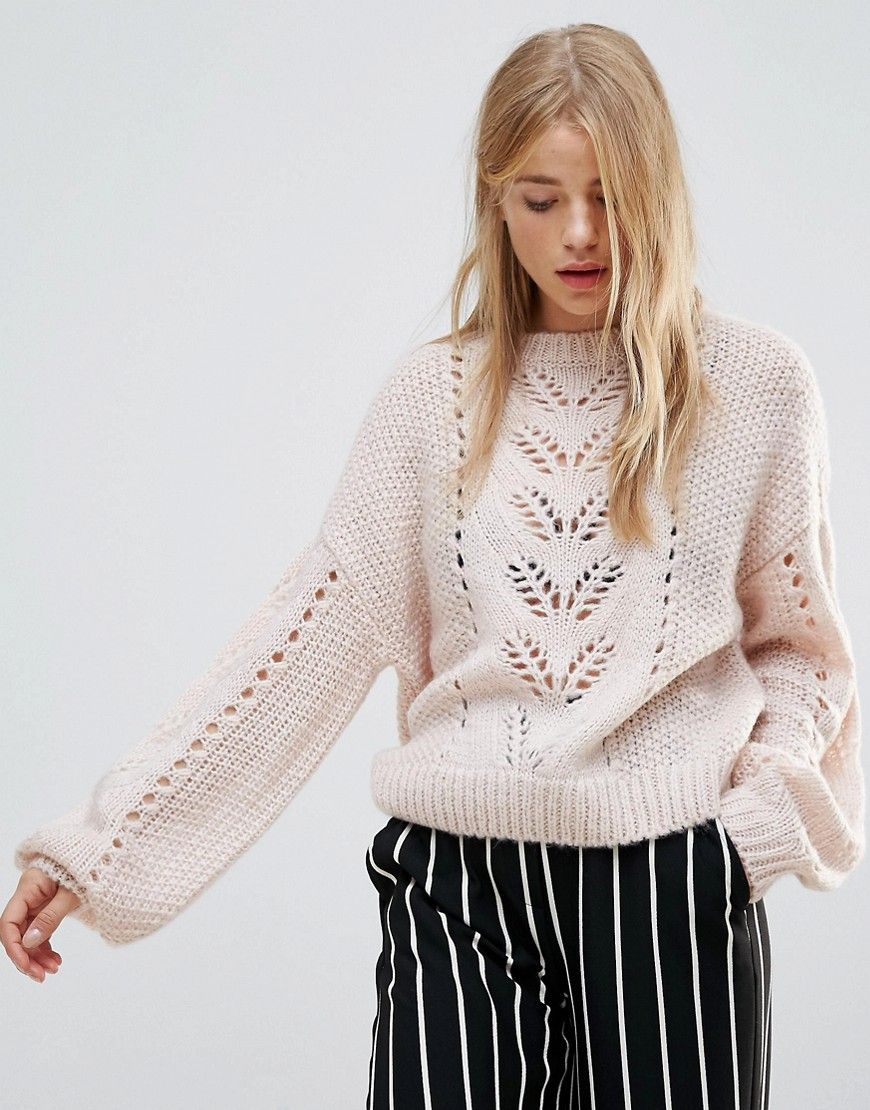 de556b48bc3 New Look Balloon Sleeve Knit Sweater - Beige | Sweaters | Beige ...