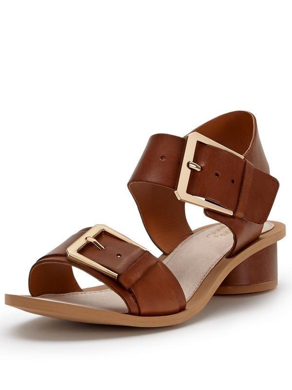 6cf9ba775 Clarks Sandcastle Art Metallic Block Heel Sandals