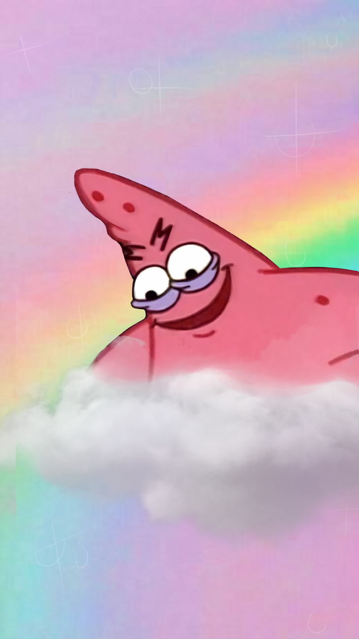 Patrick Star Aesthetic Phone Wallpaper in 2020 Funny
