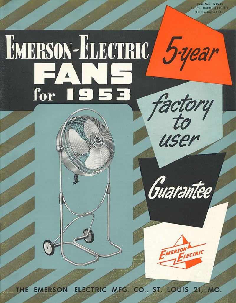 1953 emerson ceiling fans catalog emerson fans history pinterest 1953 emerson ceiling fans catalog aloadofball Image collections
