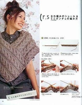 Receitas de Trico e Croche: Casaco em tricô | Kimono trico