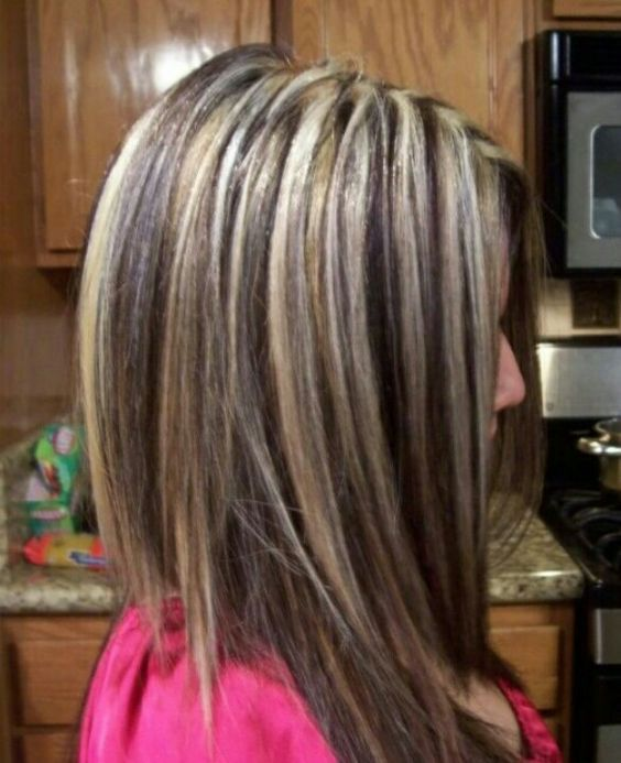Dramatic Hilo Lights Hairstyles Pinterest Chunky Highlights