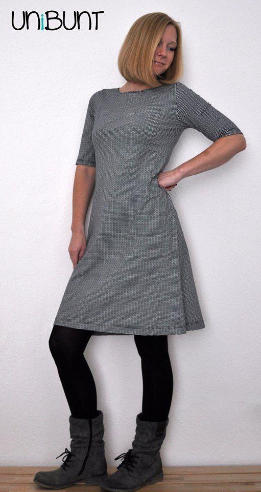 Jersey kleid ausschnitt nahen