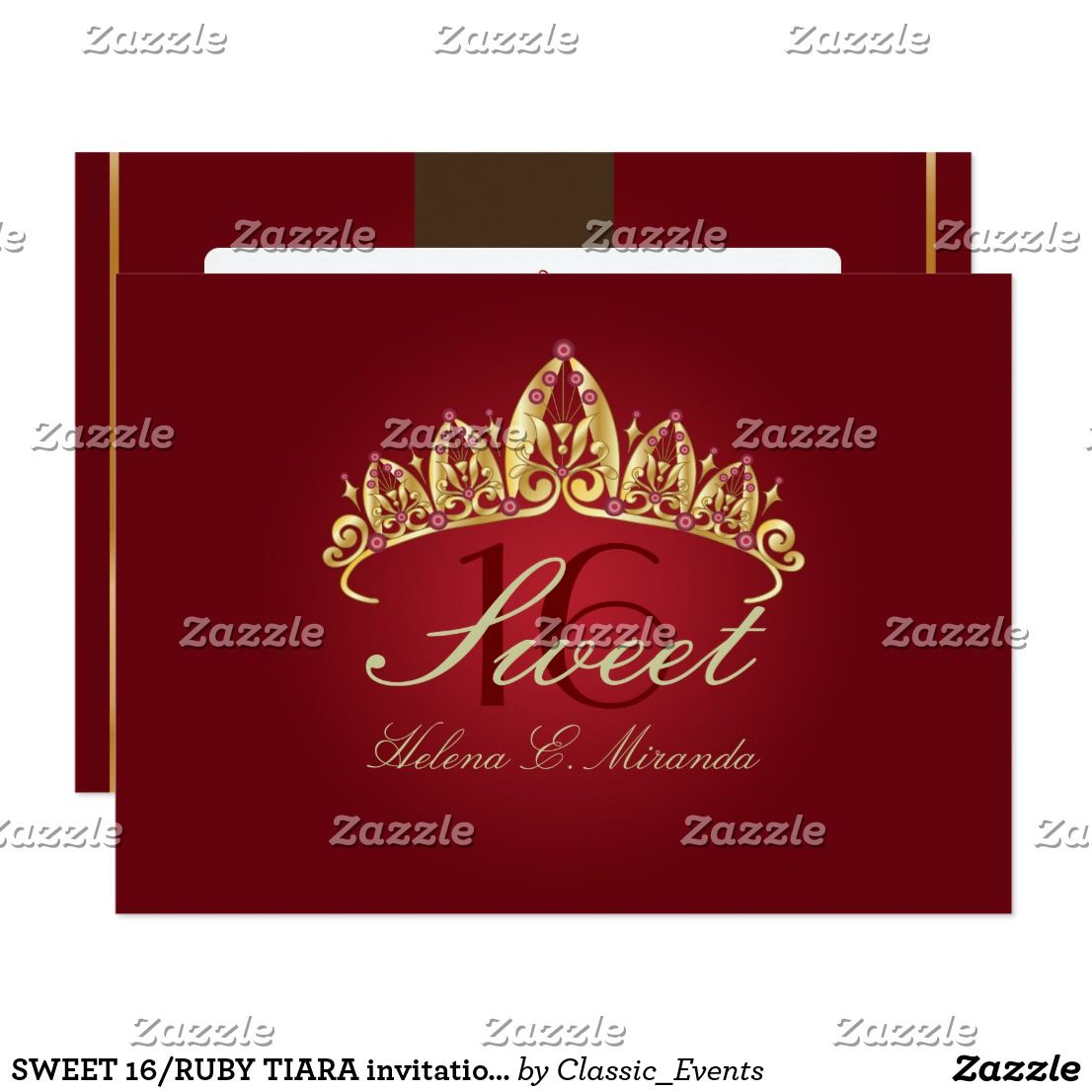 SWEET 16/RUBY TIARA invitations/DIY color+fonts Invitation | { Happy ...