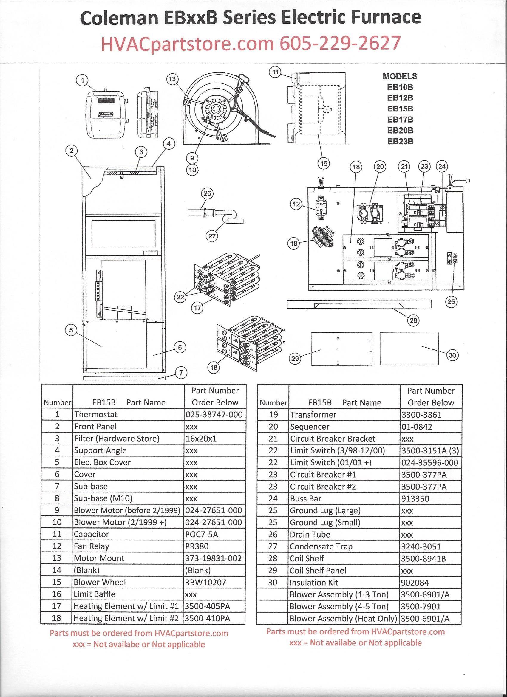 Coleman Electric Furnace Wiring Diagram Diagram