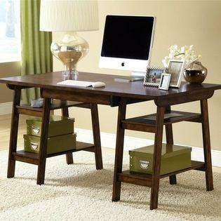 Hillsdale Furniture   Parkglen Writing Desk In Cherry Finish   Easy Storage  Shelves. Rich Wood Grain . Ideal For Laptop, Bills Or Homework.
