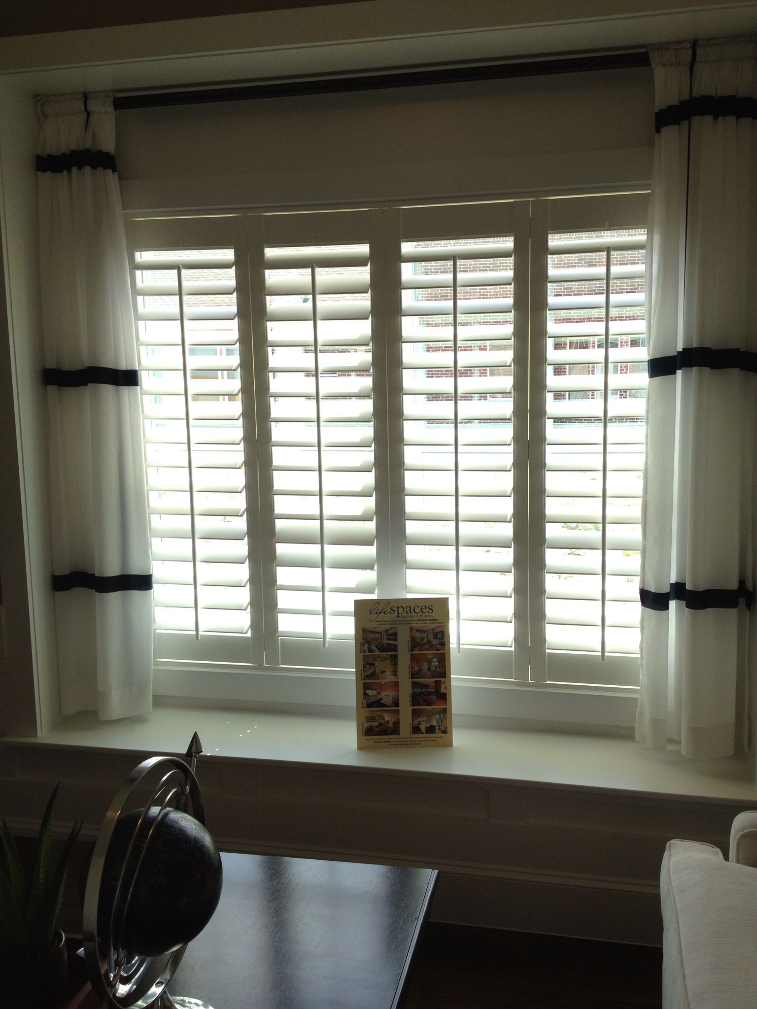 Short Curtains And Shutters For Window Seat With Images Ikea