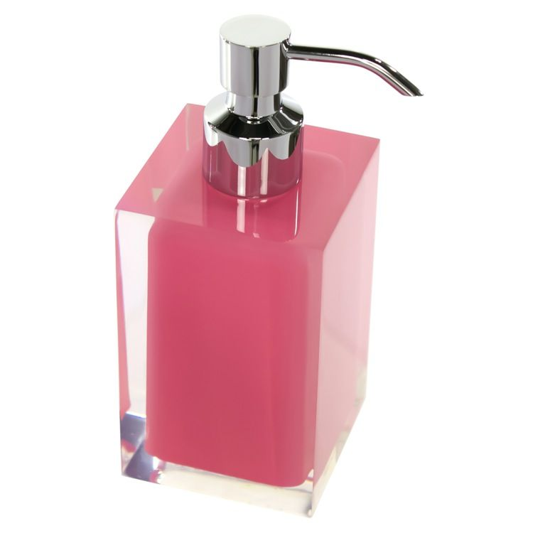 Square Pink Countertop Soap Dispenser Soap Dispenser Hand Soap