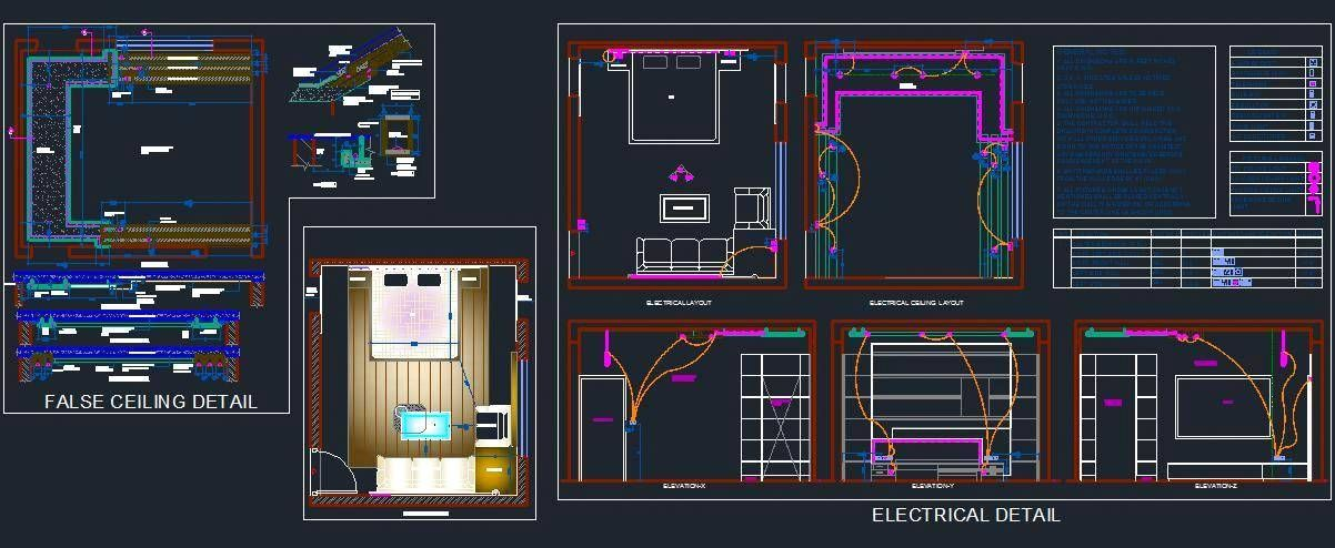 Bedroom Electrical And False Ceiling Design Interiors Ceiling