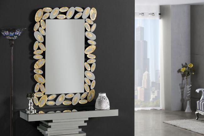 Decoracion gimenez espejos cristal con oro espejos for Espejos decorativos dorados