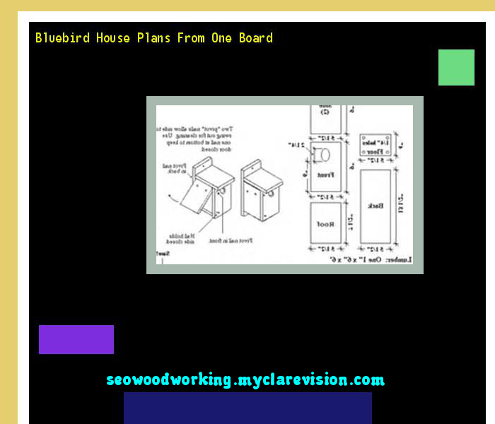 bluebird house plans from one board 075549 - woodworking plans and