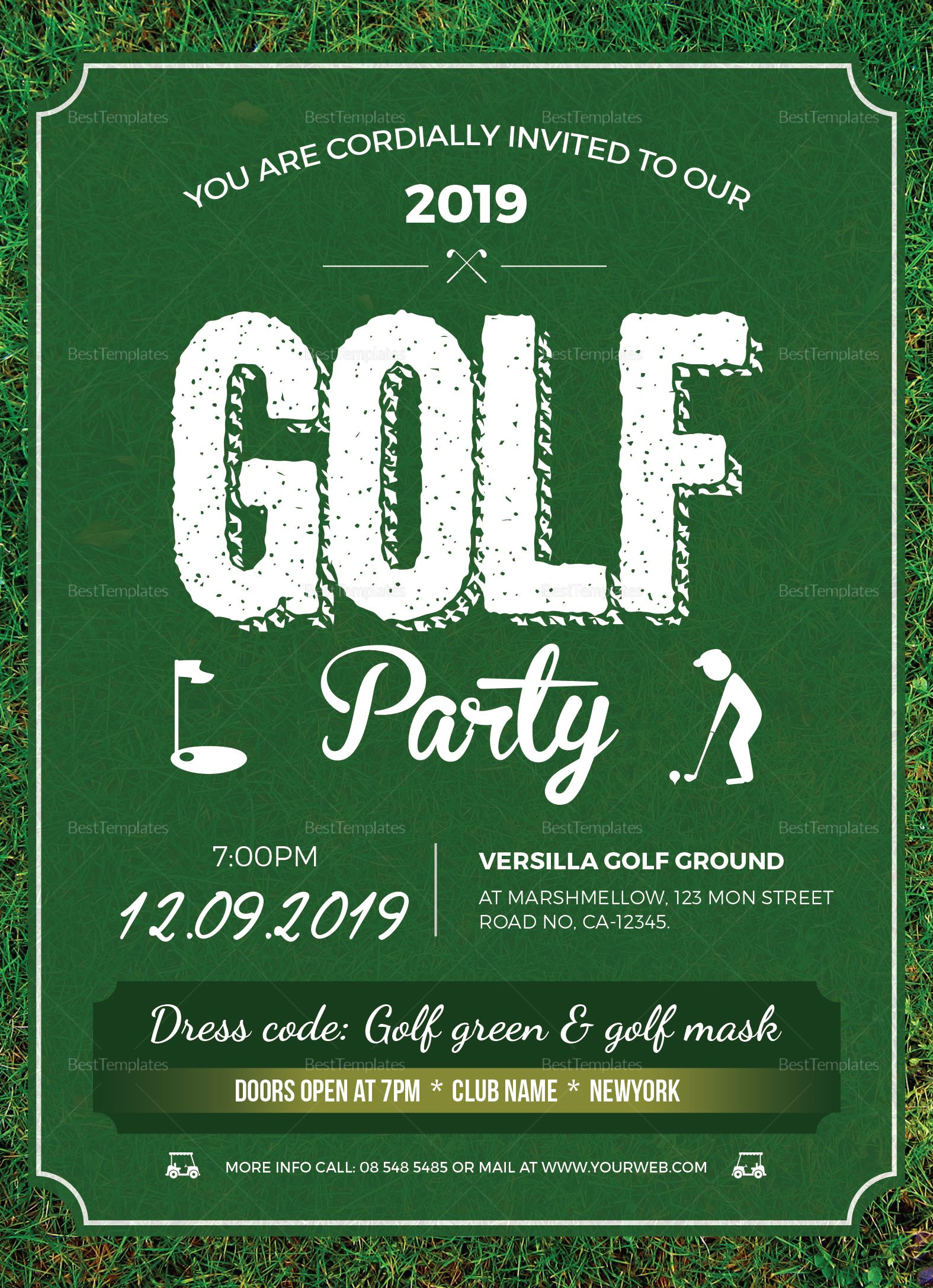 Golf Party Invitation Design Template In Word Psd Publisher Golf Party Golf Invitation Golf Quotes