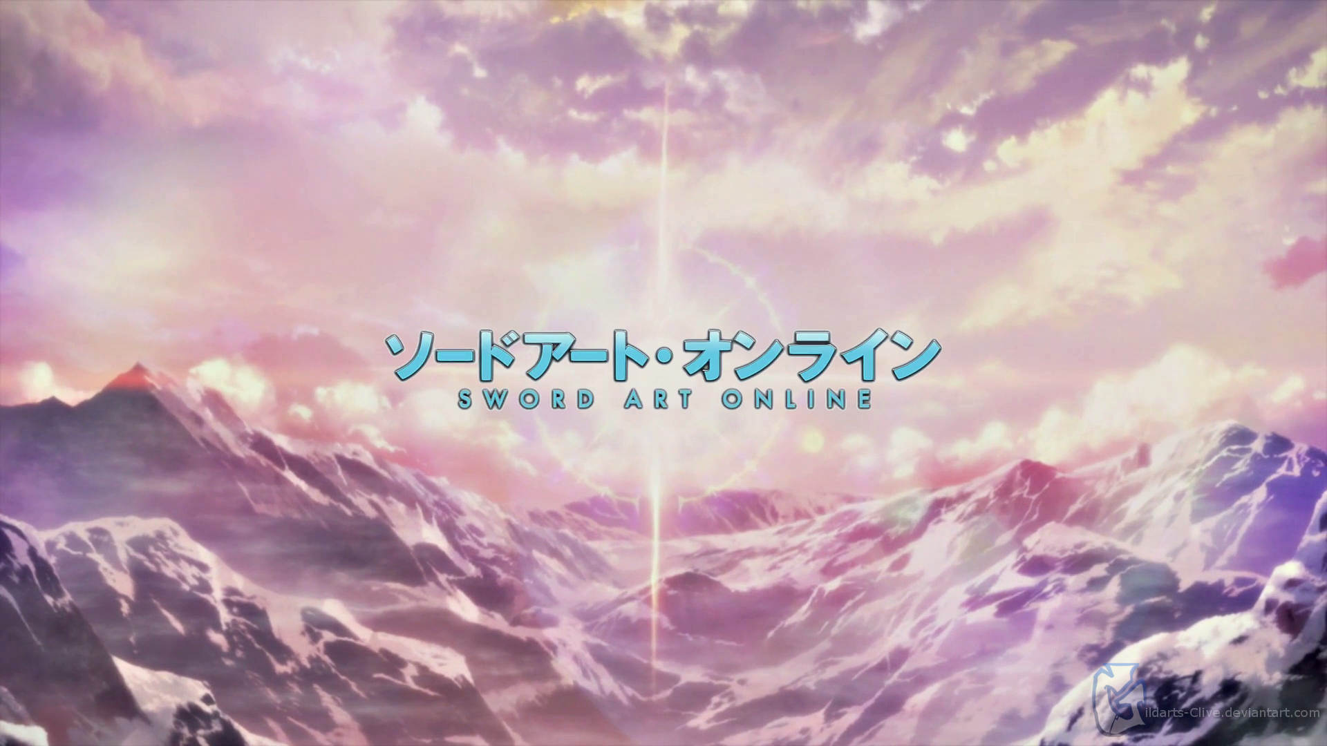 Image Sword Art Online Logo Landscape Anime Mountains Sword Art Online Sword Art Online Wallpaper Sword Art