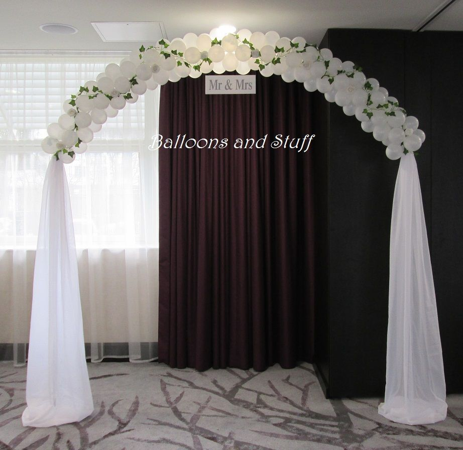 Wedding Balloon Arch … | ALL BALLOONS | Pinterest | Wedding balloons ...