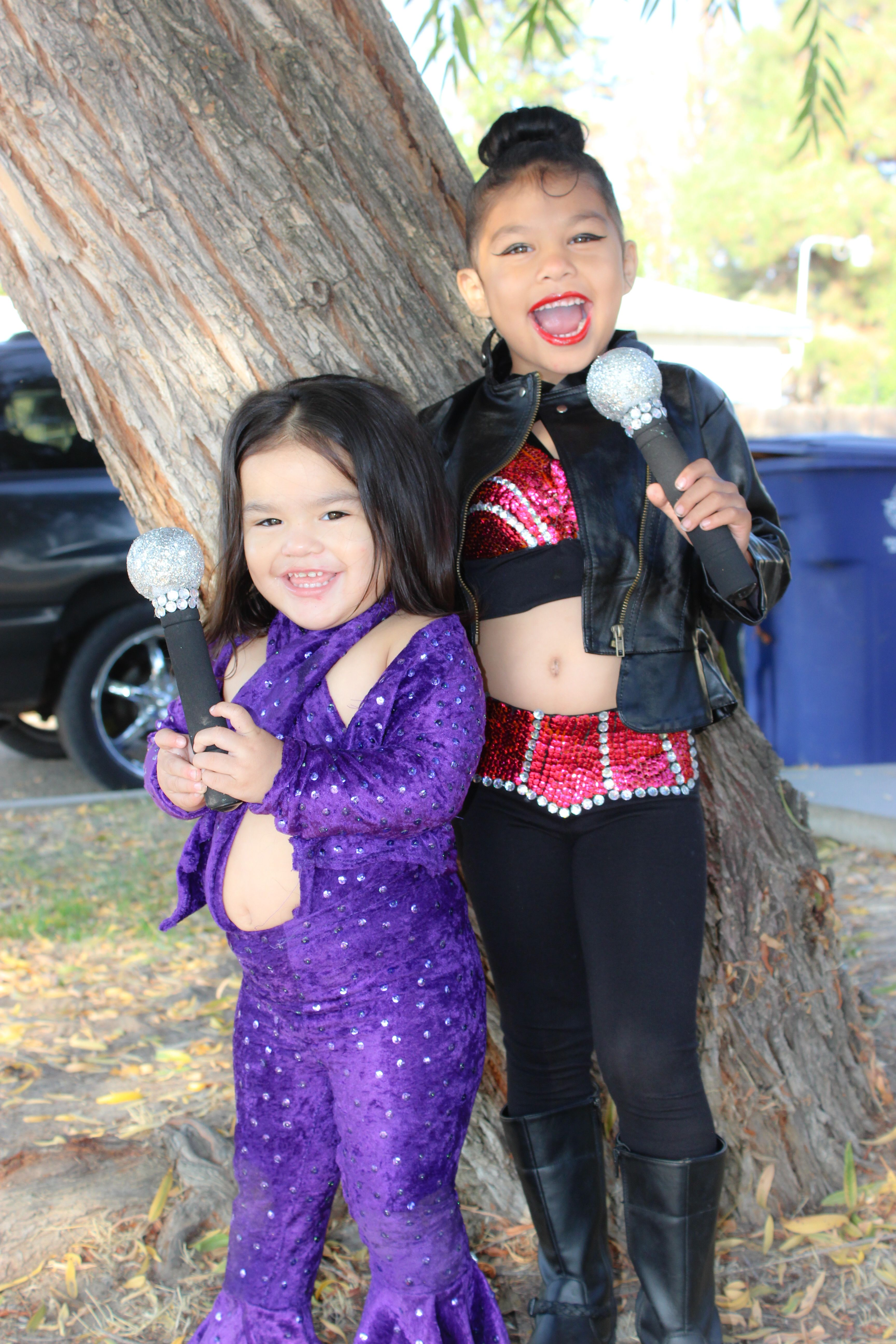 Two Selena outfits I made for my girls for Halloween