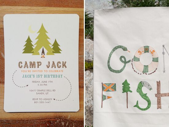 camping first birthday party camp jack little peanut magazine