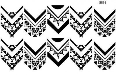 Слайдер дизайн контур линии S889   Текстуры, Ногти, Дизайн
