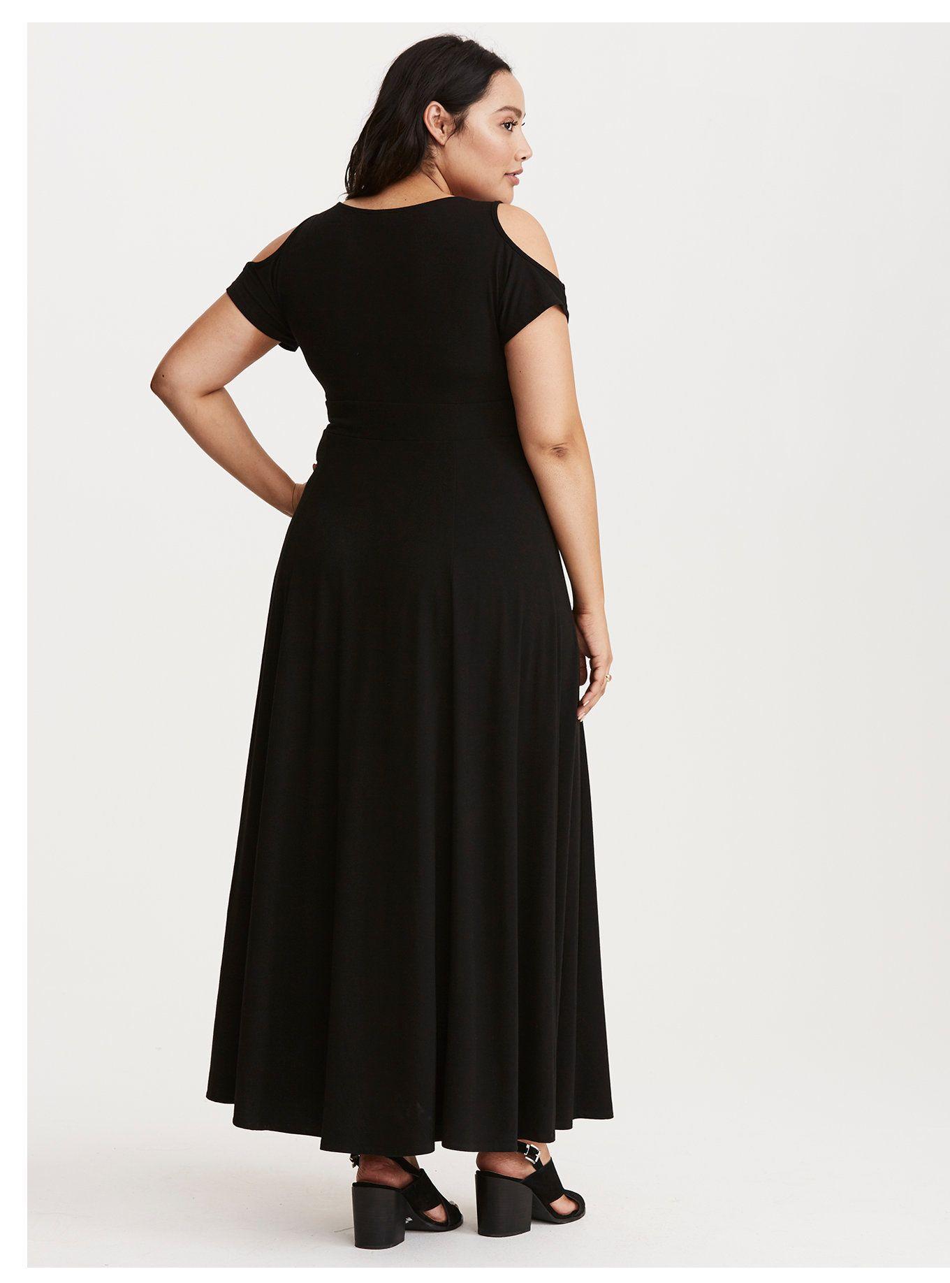 8f72d50d1b Jersey Cold Shoulder Surplice Maxi Dress | Duci divat. | Dresses ...