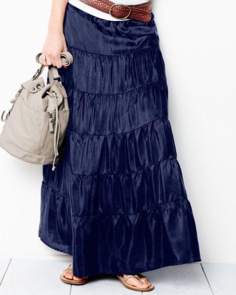 Multi-Tiered Silk Skirt