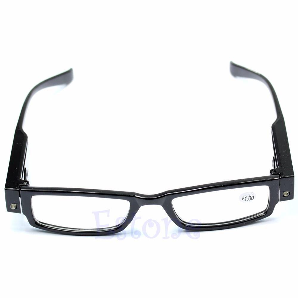 뜨거운 판매 클래식 남녀 멀티 강도 LED 독서 안경 안경 안경 디옵터 돋보기 빛 안경 무료 배송