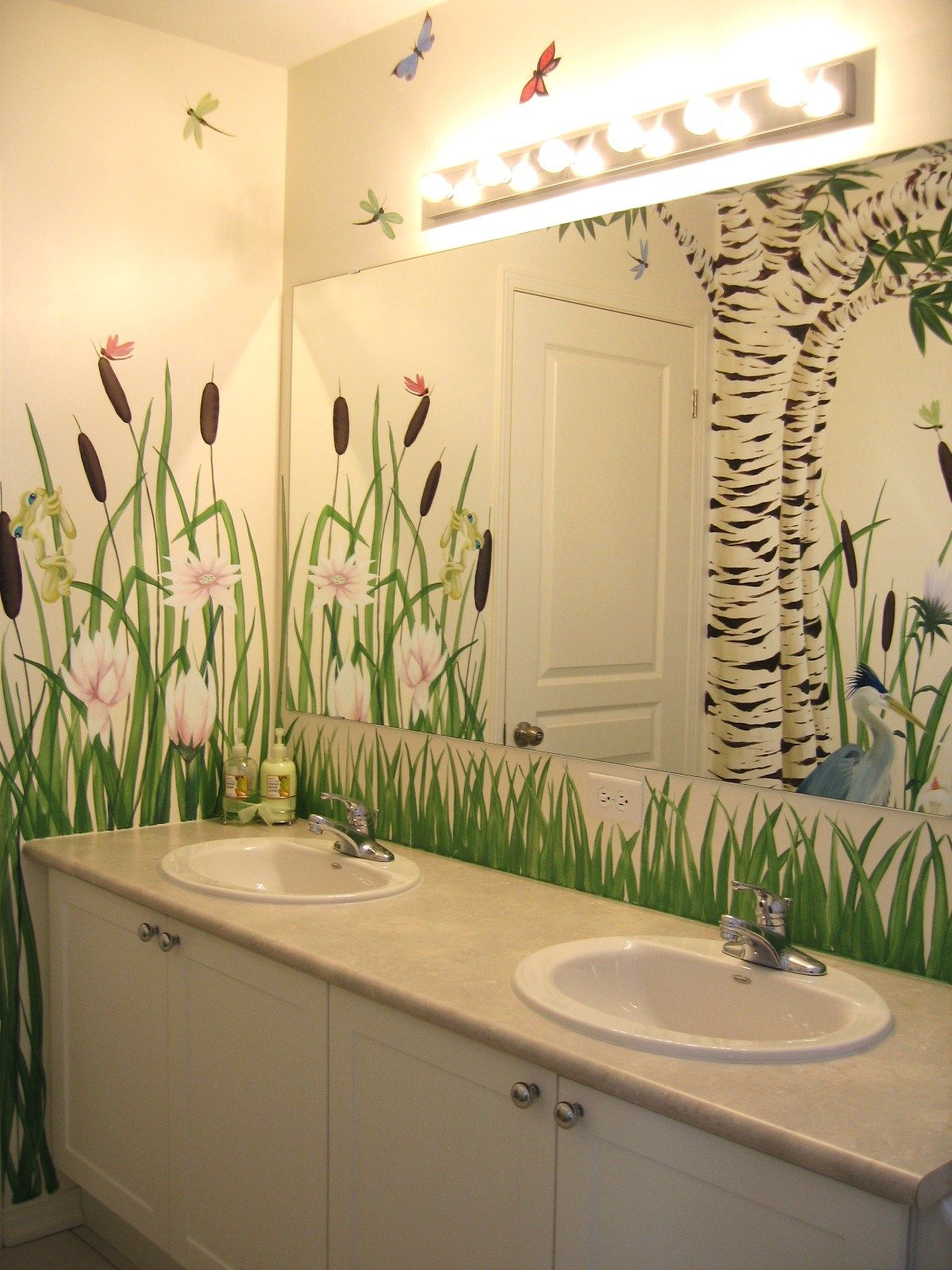 Bathroom mural by Charlotte Hamilton | Murals - window / wall ...