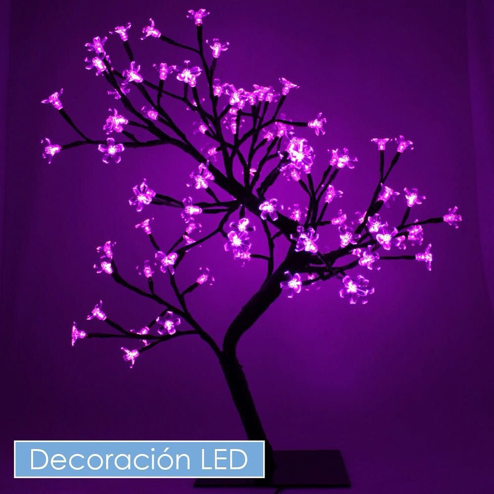 It S Always Easy To Get Inspired With Led Lights Do You Like This Creative Idea Ideas Decoration Led Ledl Cherry Blossom Tree Purple Art Purple Aesthetic