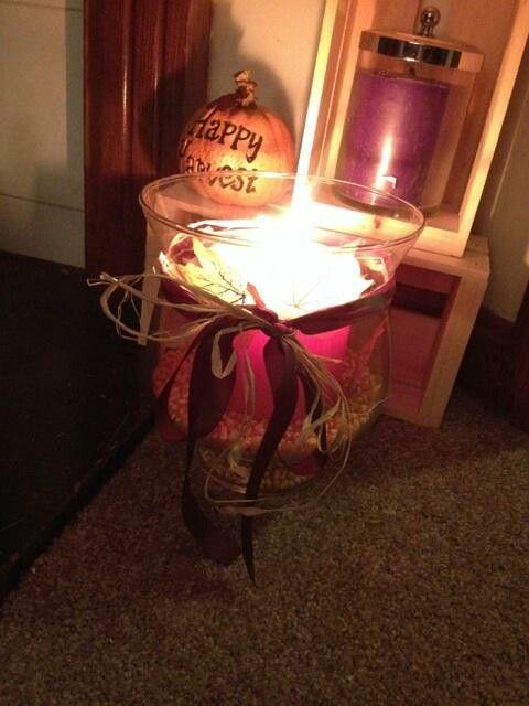 Fall candle decor
