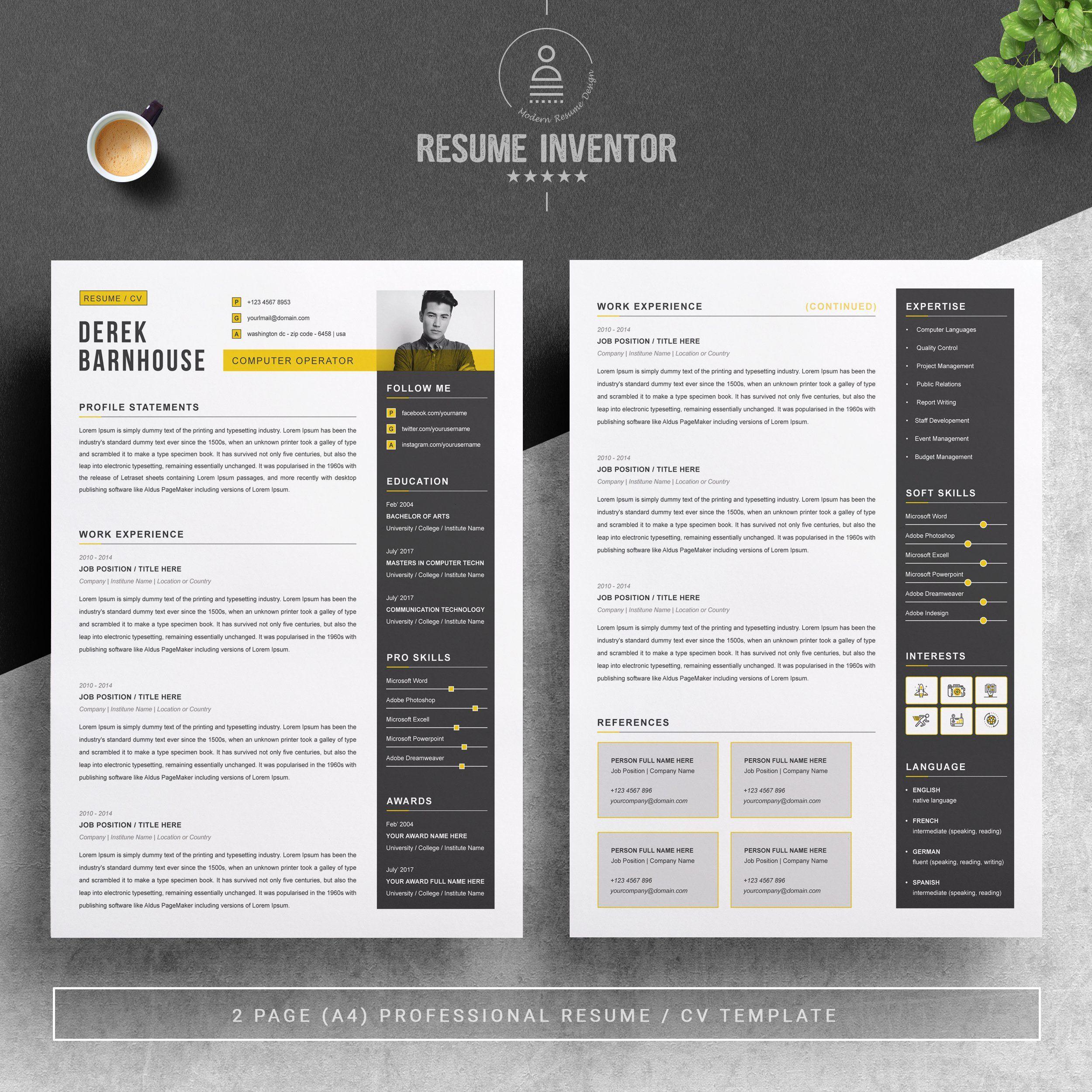 Cv Template Curriculum Vitae Cv Template Curriculum Vitae Resume Template